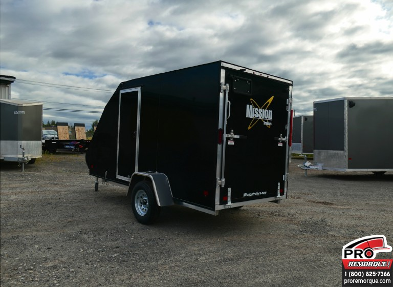 Remorque pour motoneige Mission Trailers Crossover Simple Noir, Aluminium