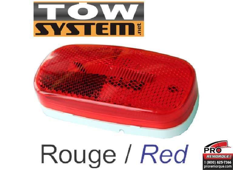 TOW SYSTEM 100R LUMIERE LED ROUGE