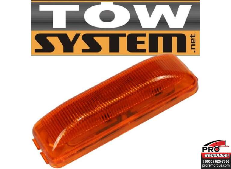 "TOW SYSTEM 121A LED 3""3/4,RECTANGULAIRE,JAUNE"