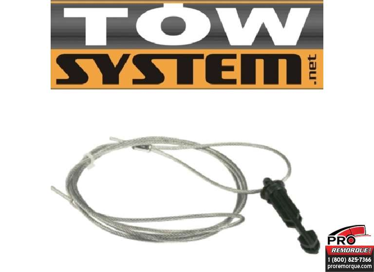 "TOW SYSTEM 20009 CABLE ET PINE FREIN 2""PO LONG"