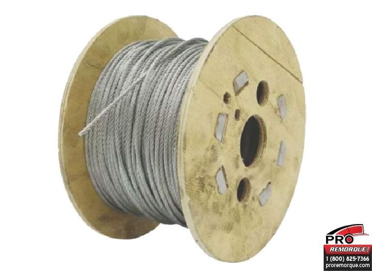 27100008 CABLE GALV.PVC CLAIR 1/8,*PIED