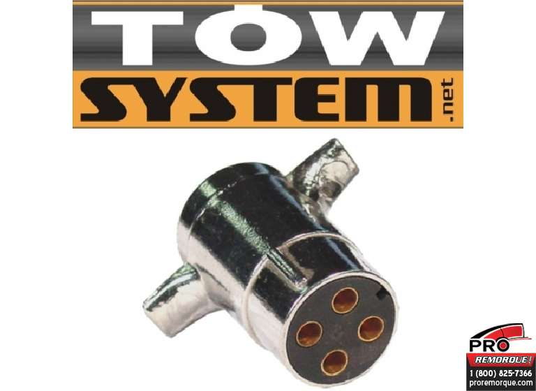 TOW SYSTEM 30105 CONNECTEUR 4 BRIN ROND REMOR.
