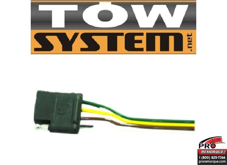 TOW SYSTEM 30503-12 CONNECT.4BRINS,AUTO,5'F.,PQ.12