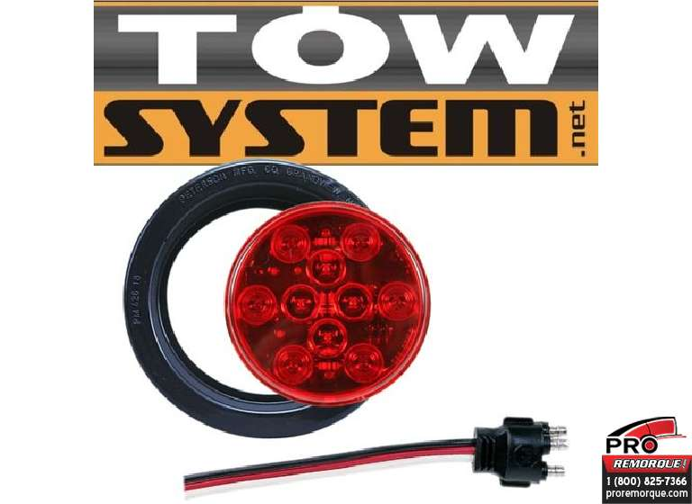 TOW SYSTEM 341KR ENS. LUMIERE SCELLEE RONDE 4""