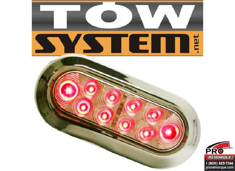 TOW SYSTEM 349CR LUM.OVALE LED ROUGE