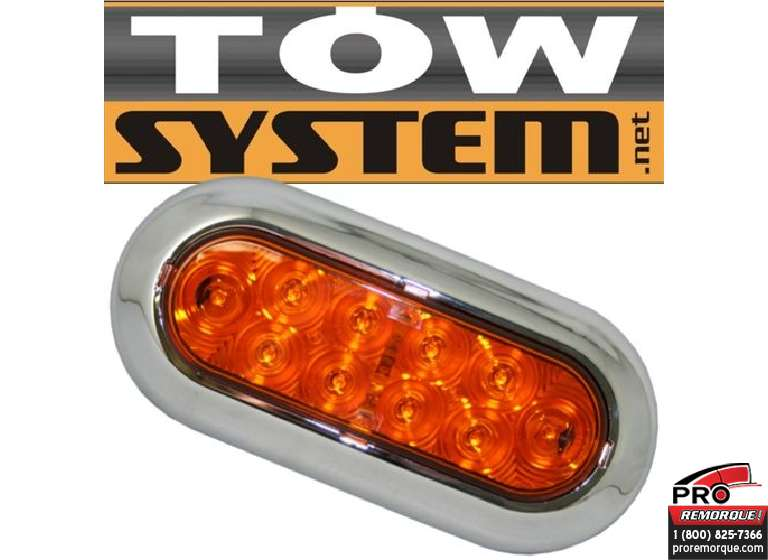 TOW SYSTEM 349KA LUM.OVAL LED AMBRE						SURFACE CHROME