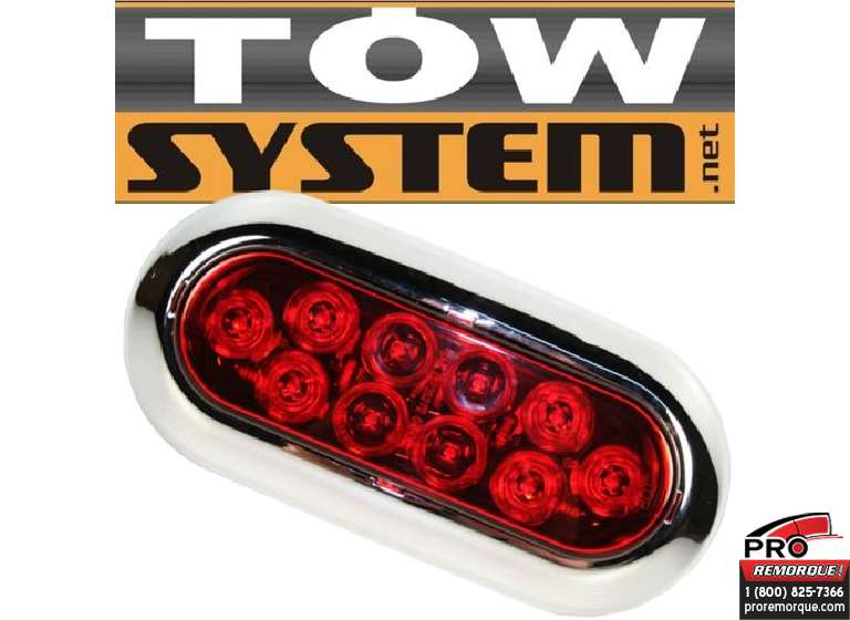 TOW SYSTEM 349KR LUMIERE OVAL ROUGE 2 CONTACTS