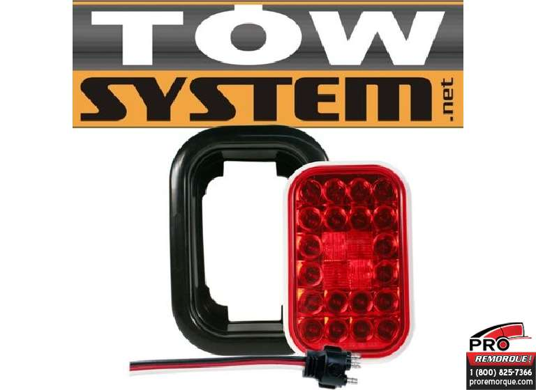 TOW SYSTEM 353KR LUMIERE RECTANGLE ROUGE LED