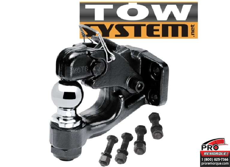 "TOW SYSTEM 43022 CROCHET BOULE 2 5/16"",12000lbs"