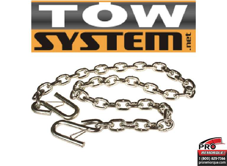 IMPORT/TOWSYSTEM 49137 CHAINE SECURITE,2000 LBS,3/16""