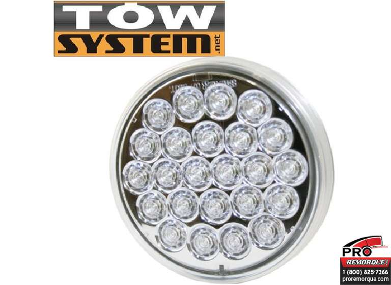 "TOW SYSTEM 522 LUMIERE RECULE ROND 4"" 24 LED"