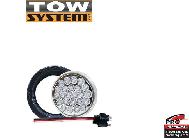 "TOW SYSTEM 522KC LUMIERE RECULE ROND 4"" 24 LED"