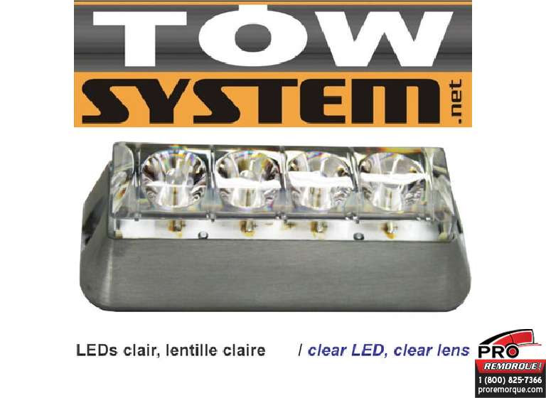 TOW SYSTEM 553W LUMIERE STROBE CLAIR,4LED