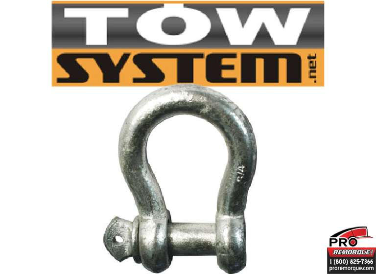 "IMPORT/TOWSYSTEM 601G19 MANILLE 3/4 CORPS X 7/8""PIN"