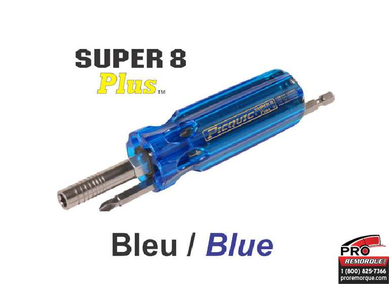 98882 TOURNEVIS BLEU SUPER 8+