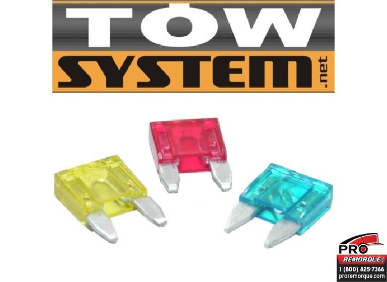TOW SYSTEM ATM10 MINI FUSIBLE 10 A PQT 10 ROUGE