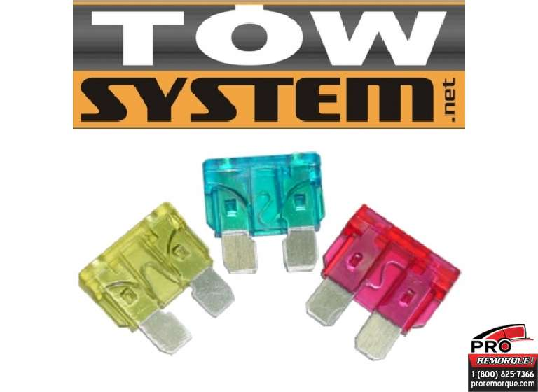 TOW SYSTEM ATO20 FUSIBLE 20 AMPS PQT10.JAUNE