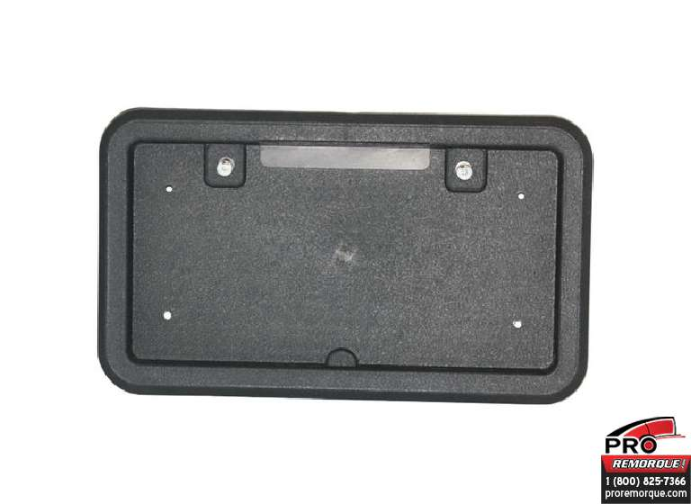 BLP1 SUPPORT DE PLAQUE PLAST. NOIR