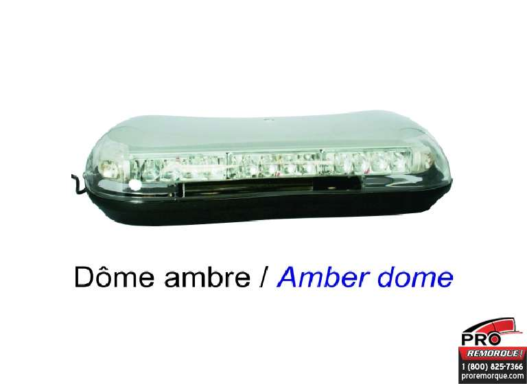 E-280AA STROB BAR DOME LED, AMBRE