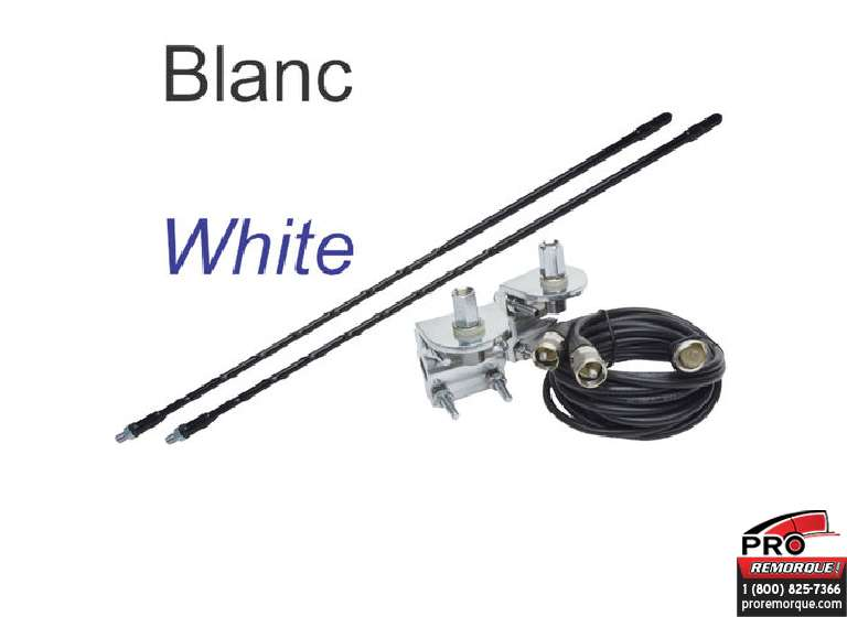 EAGLE4W ANTENNES TWIN 4FT BLANC KIT