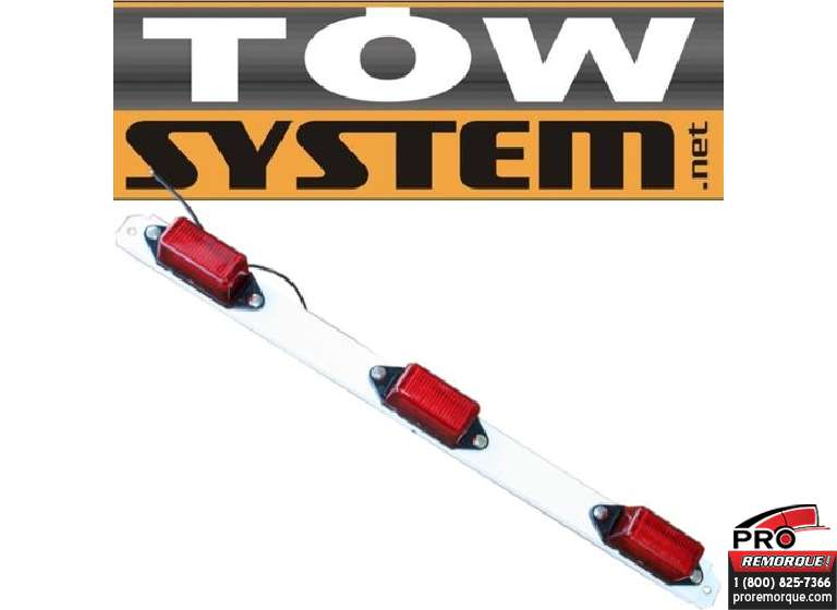 TOW SYSTEM LED229-3R ENS.3 LUMIERES LED ROUGE RAIL