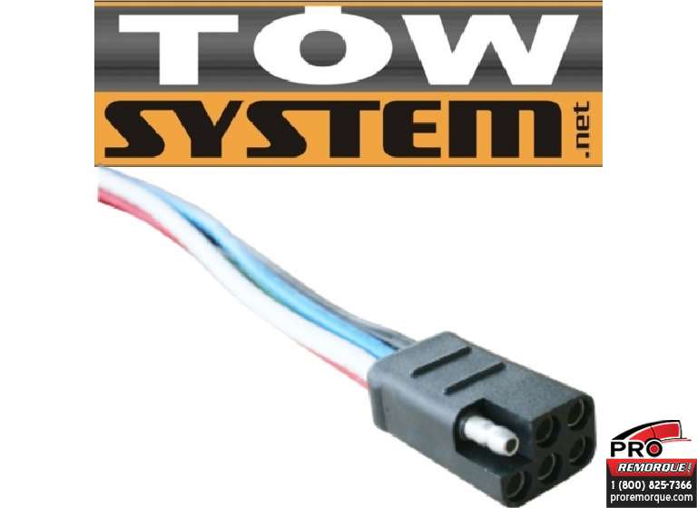 TOW SYSTEM MG371 CONNECTEUR 6 BRINS 6', AUTO