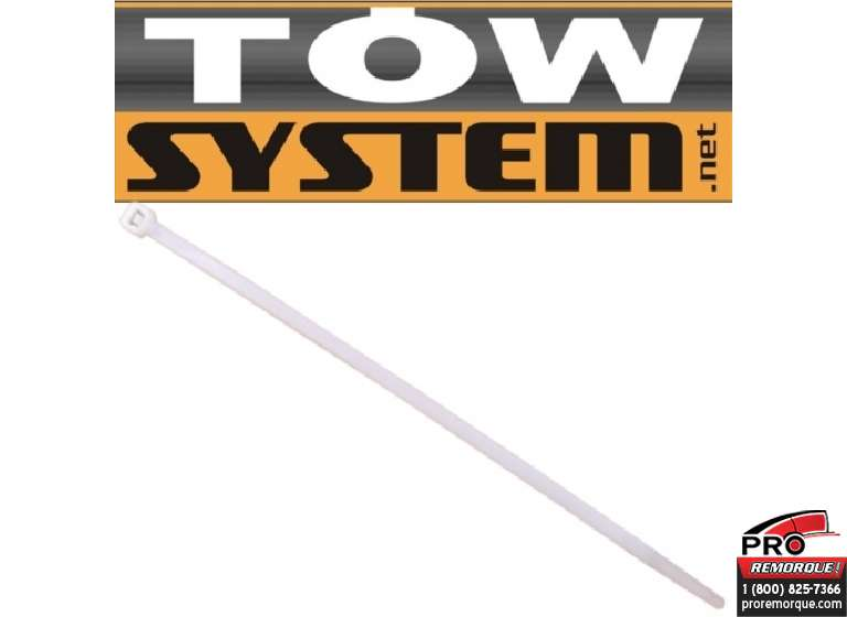 TOW SYSTEM MG501 ATTACHE NYLON BLANCHE,PQT 100