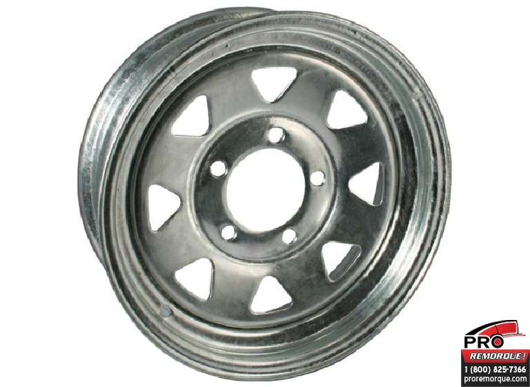 "MG60151G ROUE 15"" 6 TROUS, GALVANISE"