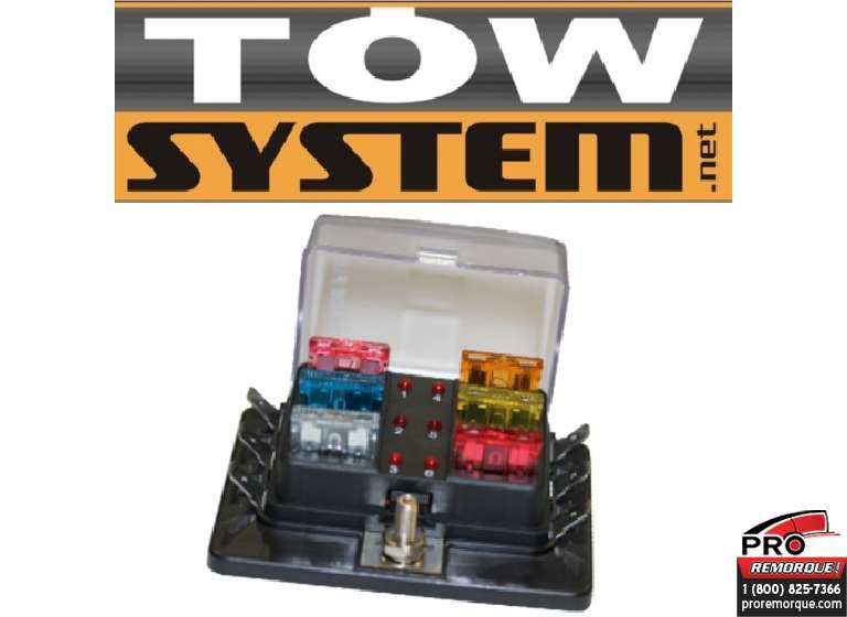 TOW SYSTEM MGI351 BOITE FUSIBLE ATO 6 POSITIONS