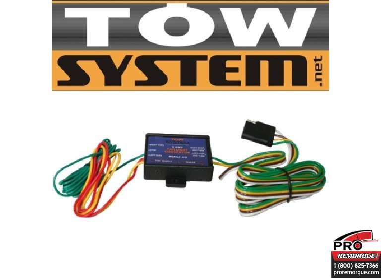 TOW SYSTEM MGI49 CONVERT.CONNECTEUR 4 BRINS						 													 							Temps d'installation approx. :  0.20 HH.mm