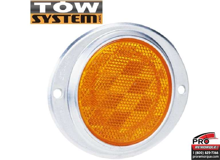 TOW SYSTEM R732 REFLECTEUR OVAL/ALUM. ROUGE