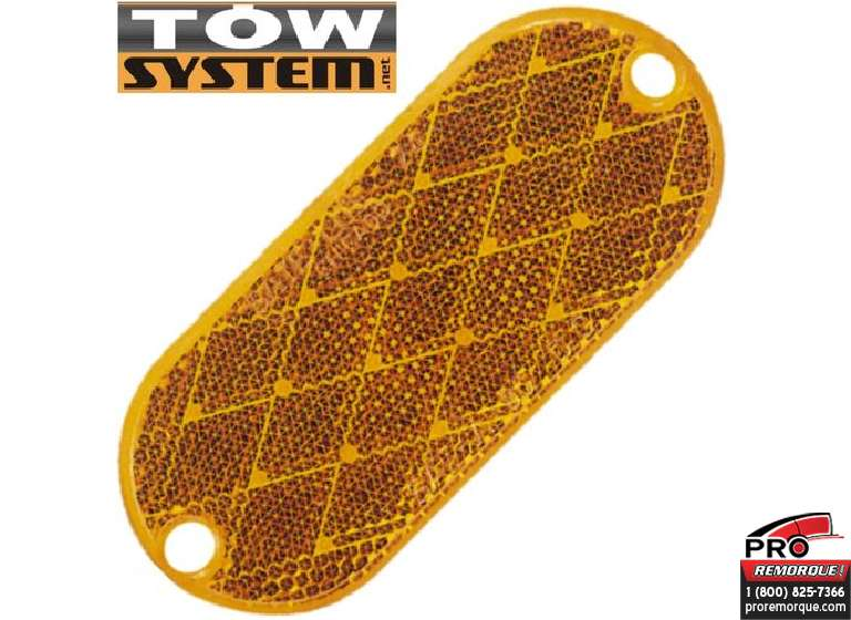 TOW SYSTEM R741 REFLECTEUR OVAL JAUNE