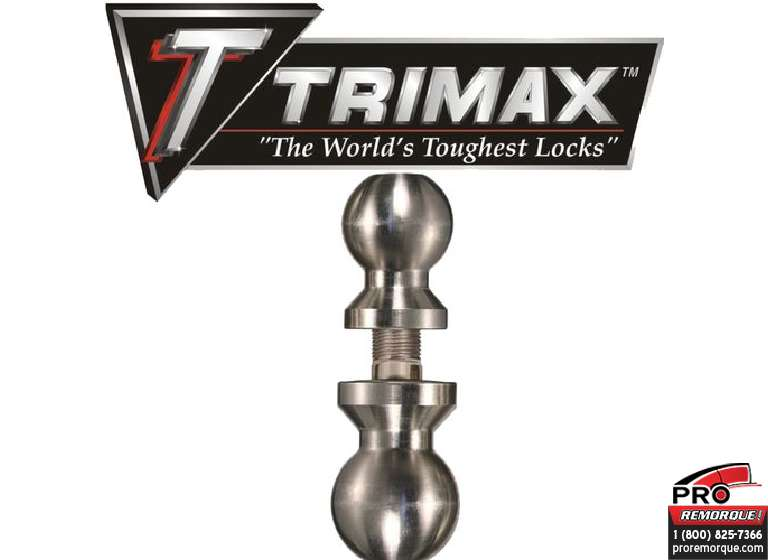 "TDBC22516 TRIMAX,BOULE DOUBLE 2""&2""5/16						CHROME AVEC TIGE DE 1"""