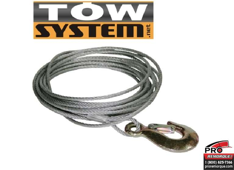 "TOW SYSTEM TS325T CABLE POUR TREUIL,3/16""x 25'"