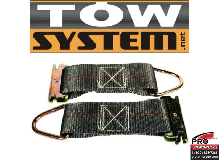 "TOW SYSTEM TS4003 COURROIE E-TRACK 2""X 8"",PQT 2						 4000 LBS"