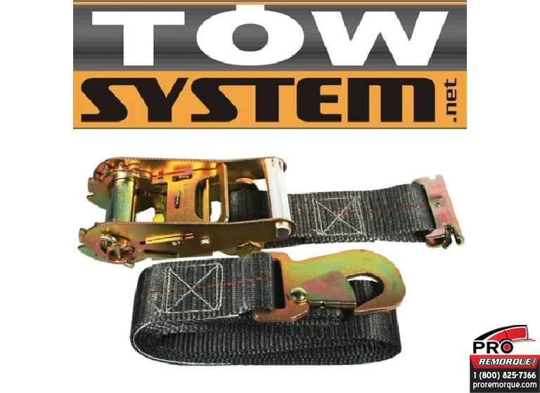 "TOW SYSTEM TS4004 COURROIE E-TRACK, 2""x7' 3500lb"