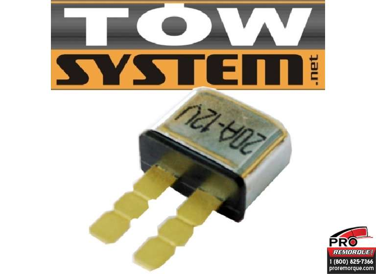 TOW SYSTEM UBC20 FUSIBLE AUTO RESET 20A (ATO)