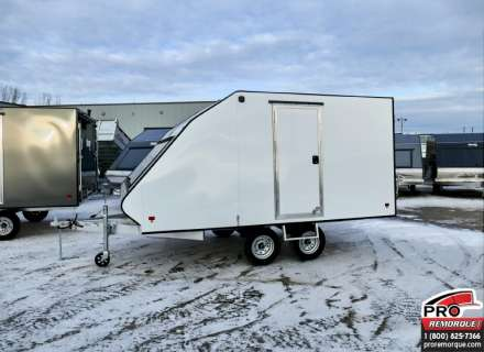 Mission Trailers Crossover Double Blanc, Aluminium