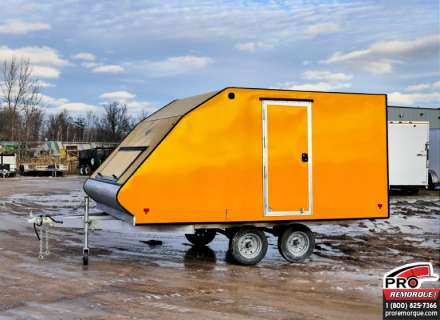 Mission Trailers Crossover Double Jaune, Aluminium