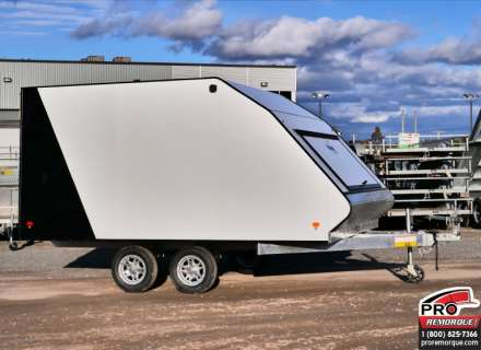 Mission Trailers Crossover Double Noir/Blanc, Aluminium