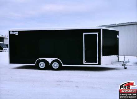 Mission Trailers MEC8520TA3 Noir, V-Nose, Torsion, Rampe