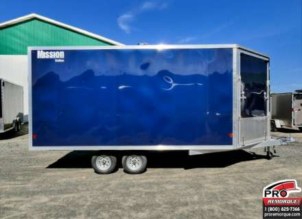 Mission Trailers MES101X14DL Bleu, 2 rampes, Torsion