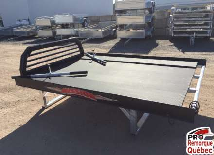 Mission Trailers Sport Sled Deck Motoneige Double, Plus, Noir