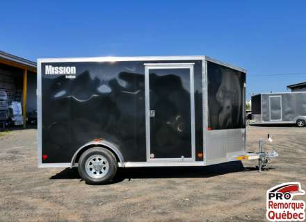 Mission Trailers MEC610SA Noir, V-Nose, Rampe, Torsion