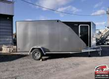 Remorque pour motoneige Mission Trailers Crossover Simple Charcoal, Aluminium