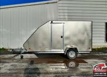 Remorque pour motoneige Mission Trailers Crossover Simple Pewter, Aluminium